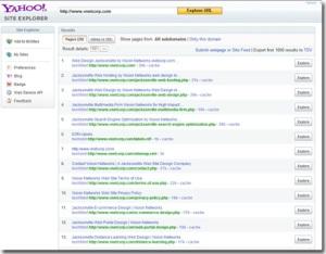 Yahoo-Site-Explorer